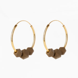 Facet hoops - Mustard