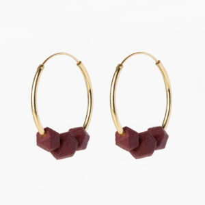 Facet hoops - Burgundy