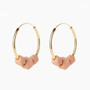 Facet hoops - Roze