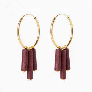 Mono hoops - Burgundy