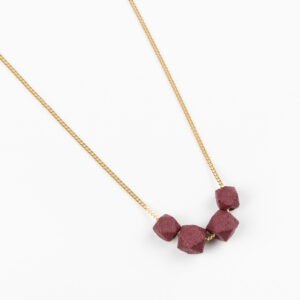 Facet ketting - Burgundy