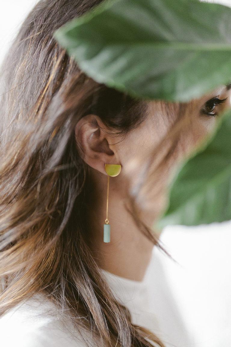 Vergulde oorbellen ONWA OR 3