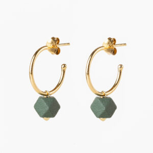 Hexagone small hoops - Sage