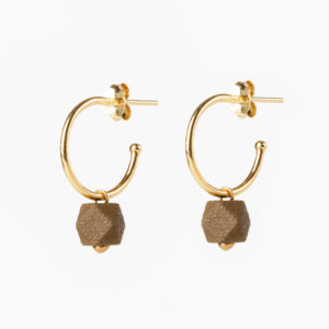 Hexagone small hoops - Mustard