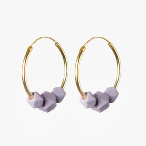 Facet hoops - Lila
