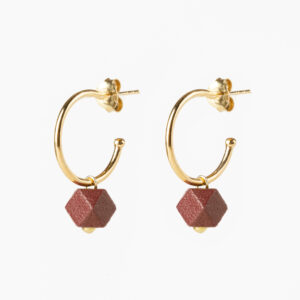 Hexagone small hoops - Terra
