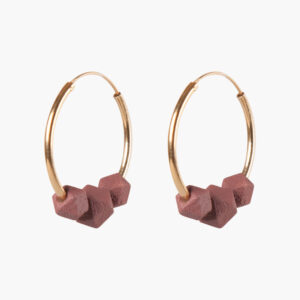 Facet hoops - Sienna