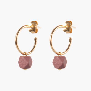 Hexagone small hoops - Sienna