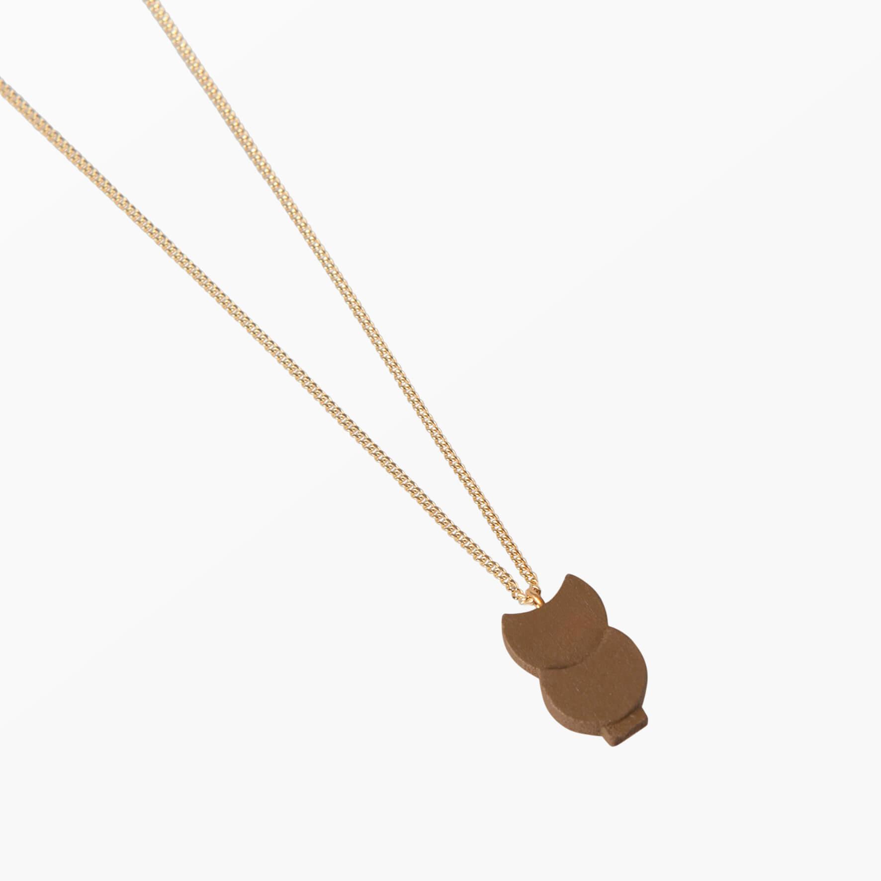 ifé – owl necklace – Mustard