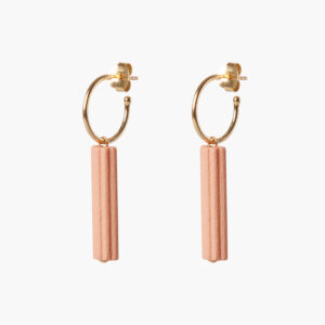 ifé - waved hoops - Roze