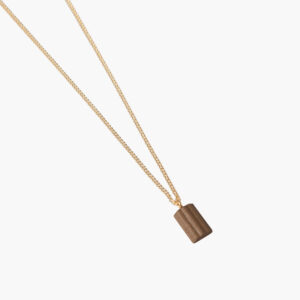 ifé - waved necklace - Mustard