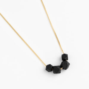 Facet ketting - Black