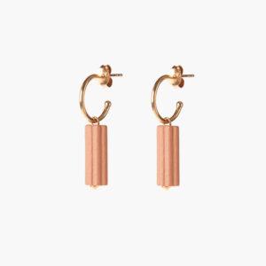 waved hoops small – Roze