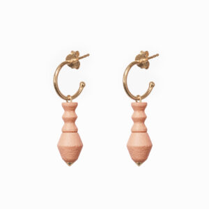 stacked totem hoops – Roze